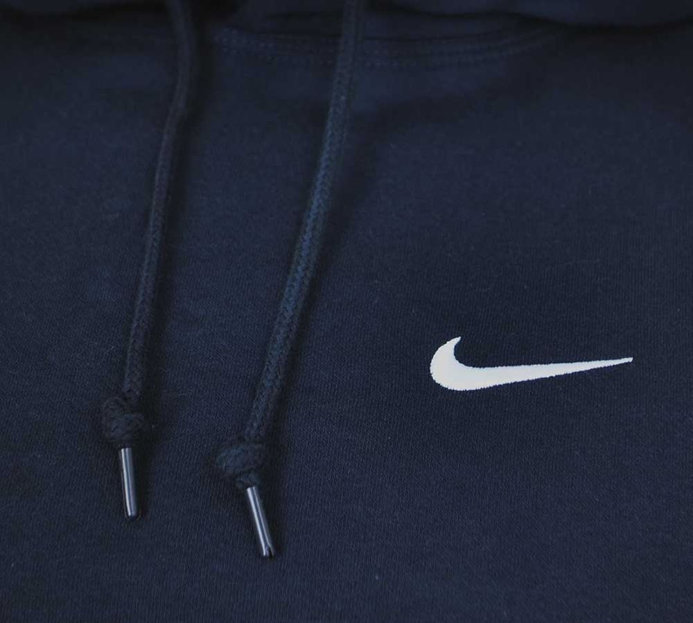 Nike Classic Swoosh Club Hooded Tracksuit Herren Sportanzug Trainingsanzug Navy – Bild 4