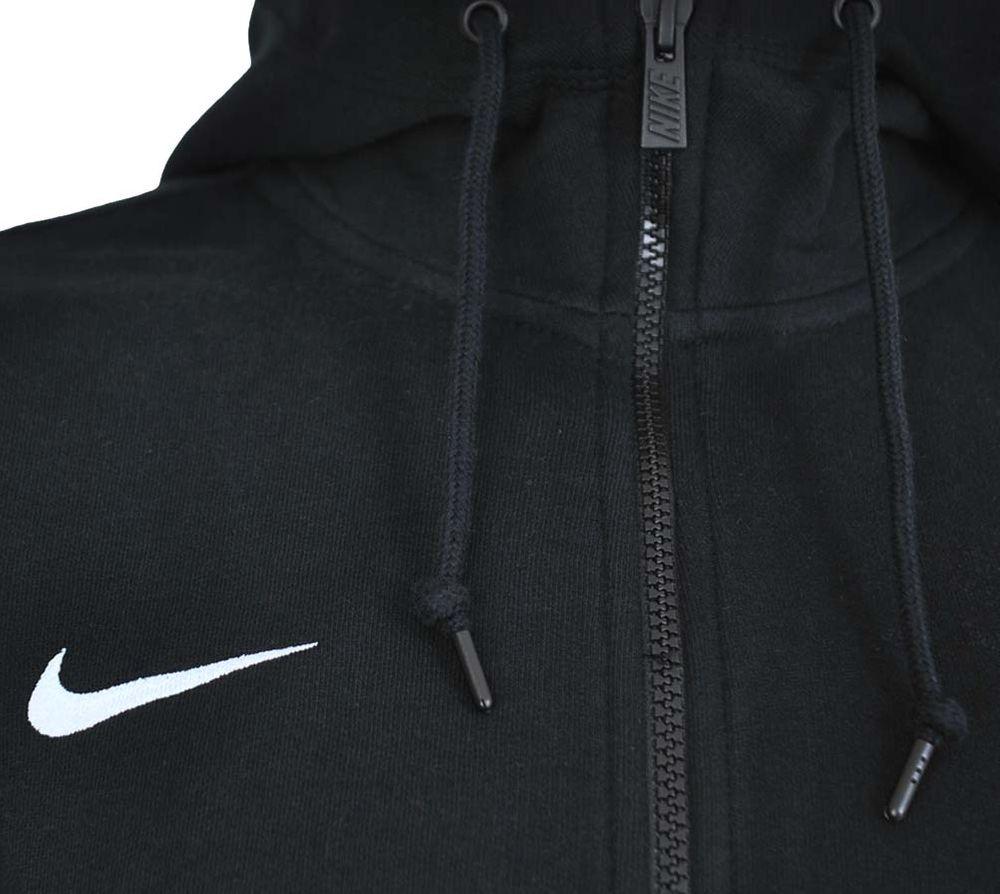 Nike Classic Full Zip UP Hoody Club Hoodie Herren Kapuzenpullover Sweatjacke Schwarz – Bild 2