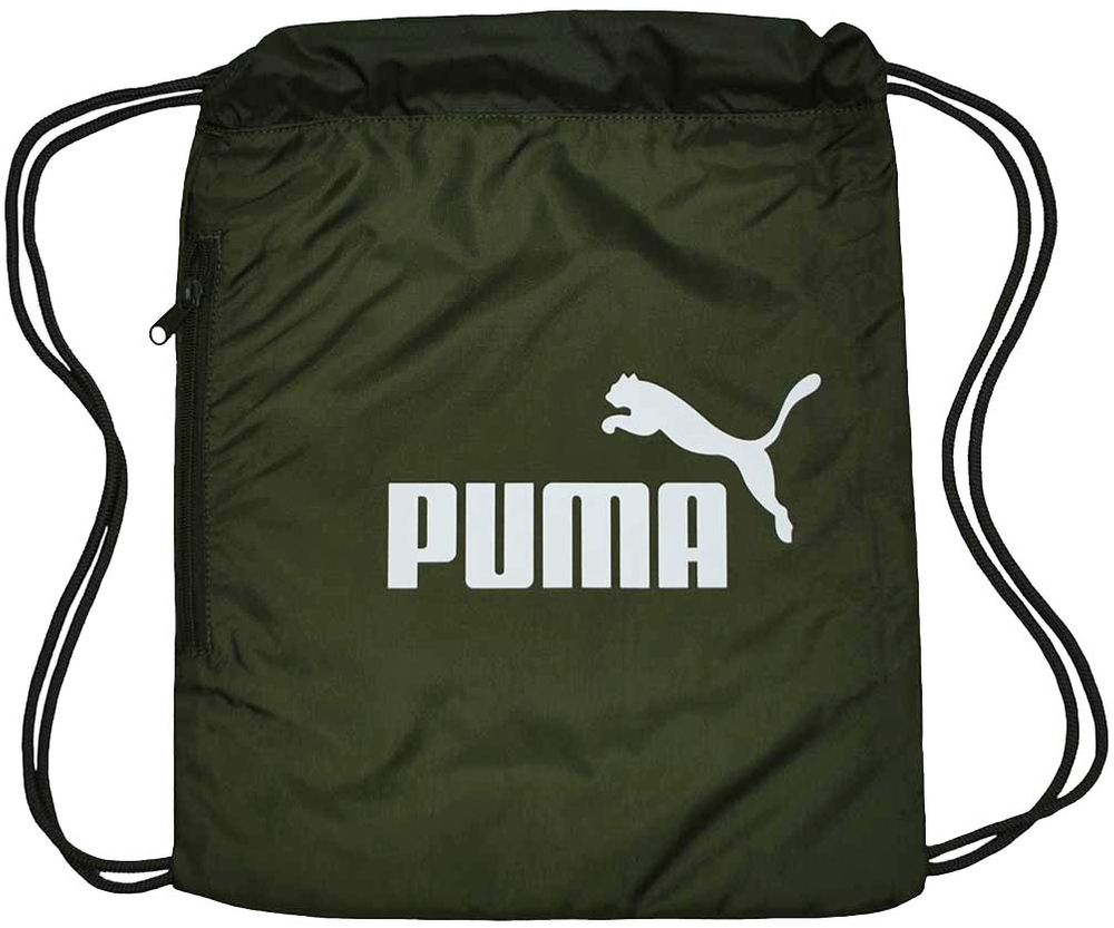 Puma Classic Cat Gym Sack Gymnastic Gymnastik Beutel Turnbeutel Forest Night-White