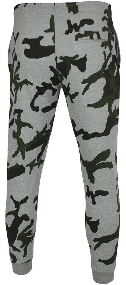 Nike Camo Skinny Pants cuffed Club Sweat Pants Herren Sporthose Trainingshose Grau – Bild 4