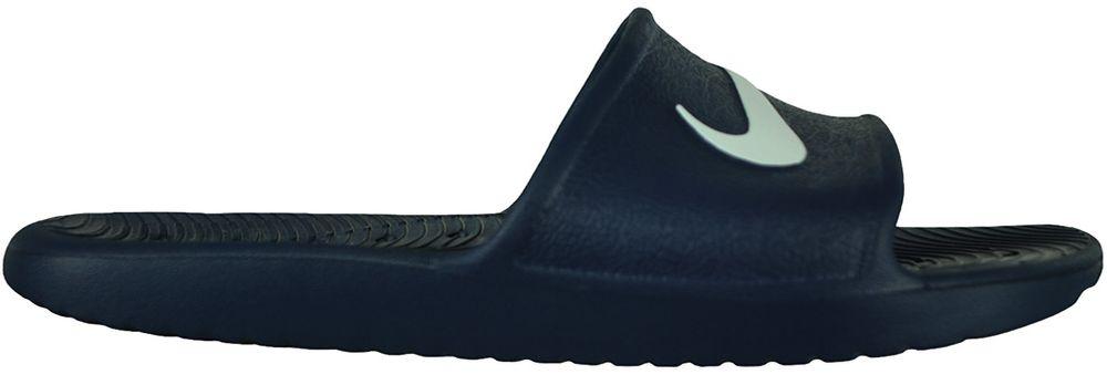 Nike Kawa Shower Slide Herren Badeschuhe Badelatschen Badeslipper Navy/Weiß – Bild 3