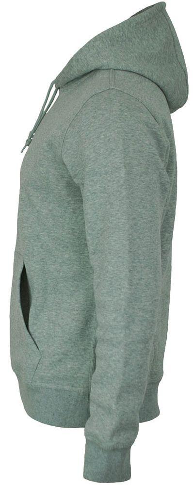 Nike Cl Swoosh Club Hoodie Herren Kapuzenpullover Sweatshirt Hoody Hellgrau – Bild 3