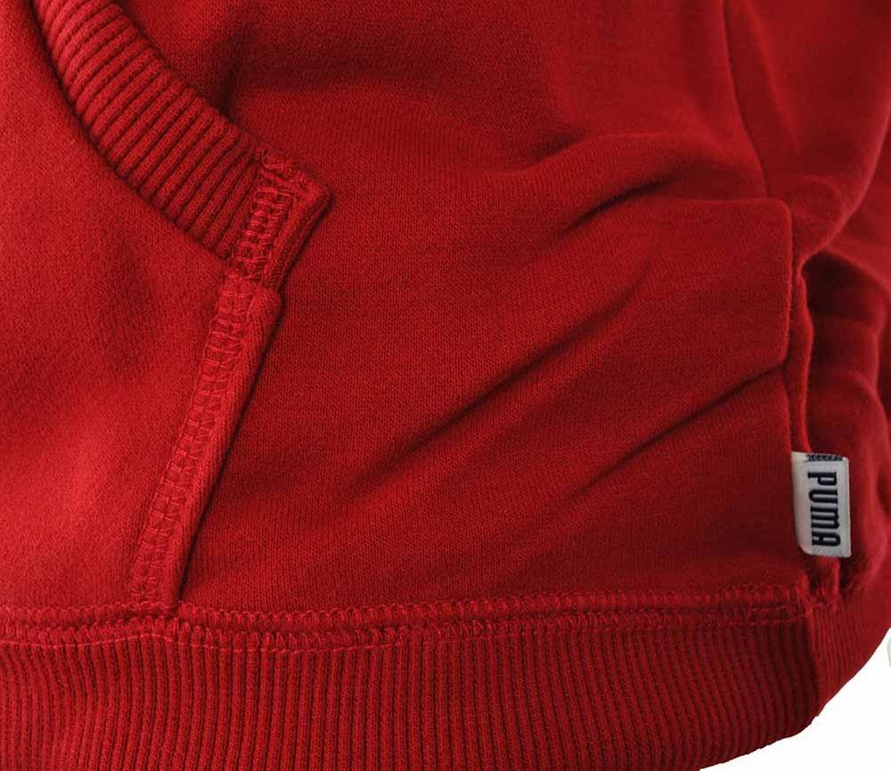 Puma Archive Logo Hoody Mens Herren Kapuzenpullover Sweatshirt Rot – Bild 3