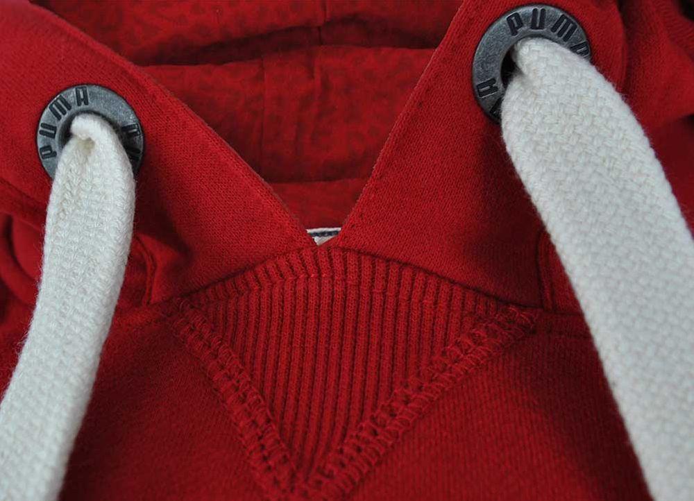 Puma Archive Logo Hoody Mens Herren Kapuzenpullover Sweatshirt Rot – Bild 4