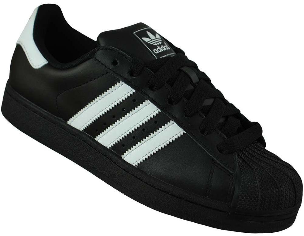 Adidas Superstar II Trainer Originals Trefoil Herren Sneaker Schwarz/Weiß