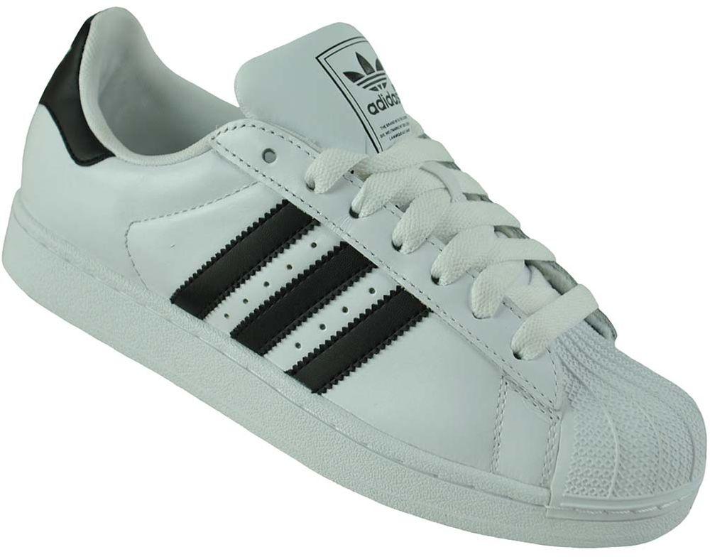 Adidas Superstar II Trainer Originals Trefoil Herren Sneaker Weiß/Schwarz