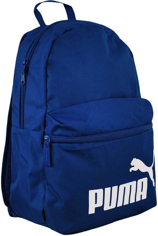 Puma Phase Backpack Unisex Rucksack 22 L. Sporttasche Blau/Weiß – Bild 1