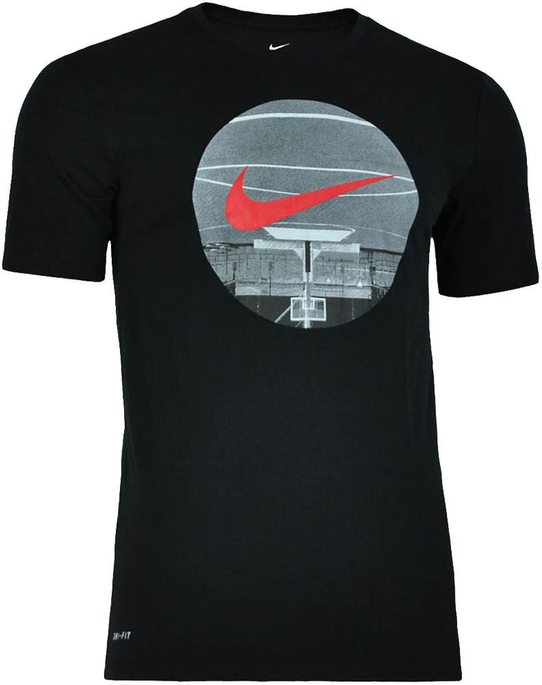 Nike Basketball Fun Top Tee Herren Sport DRI FIT Fitness T-Shirt Schwarz – Bild 1