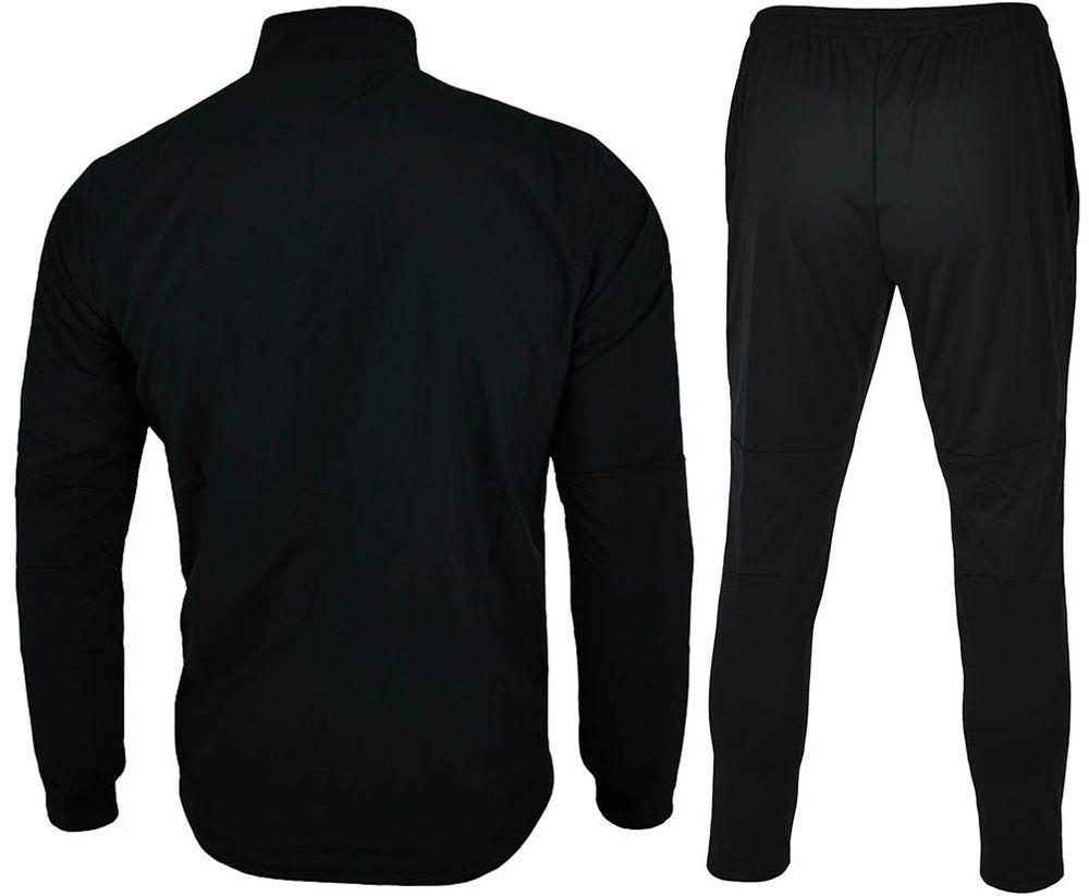 Nike Park 18 Poly Suit Herren DRI FIT Trainingsanzug Schwarz/Weiß – Bild 6