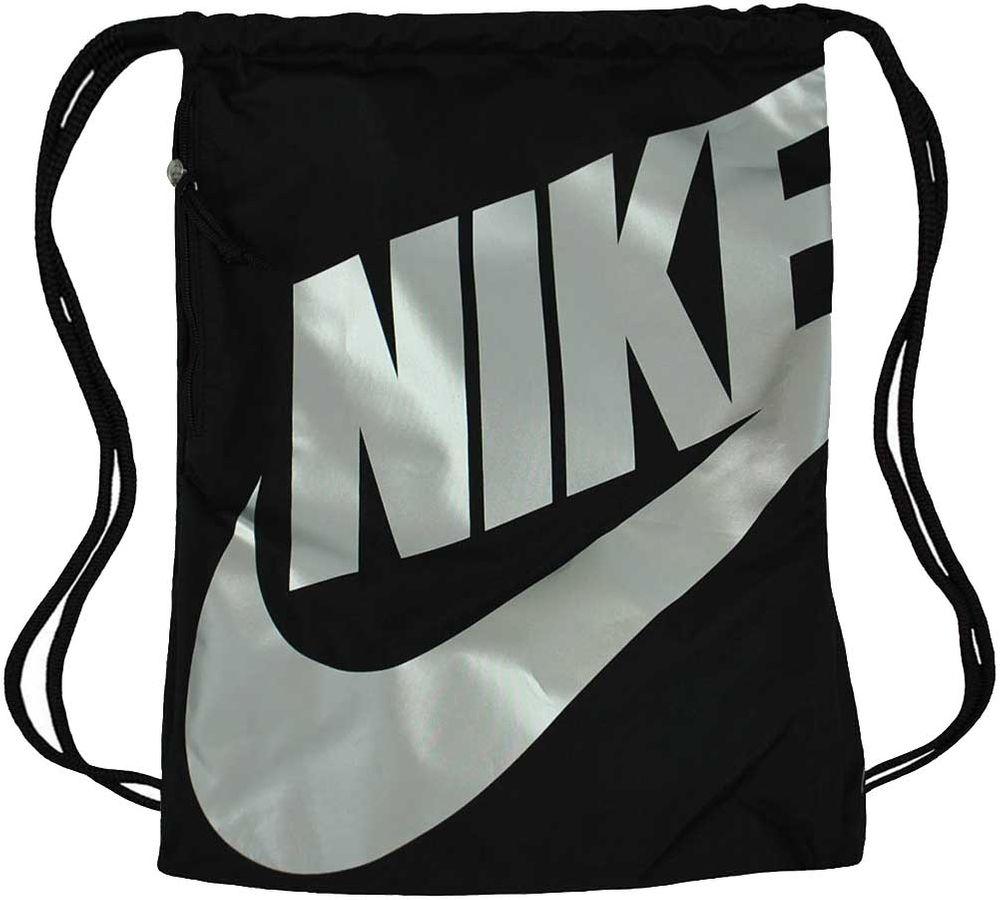 Nike NK Heritage Gym Sack Gymnastic Gymnastik Beutel Turnbeutel Schwarz/Silber – Bild 1