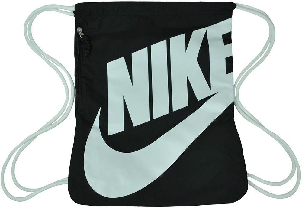 7a857e85cf549 Nike NK Heritage Gym Sack Gymnastic Gymnastik Beutel Turnbeutel Schwarz Weiß