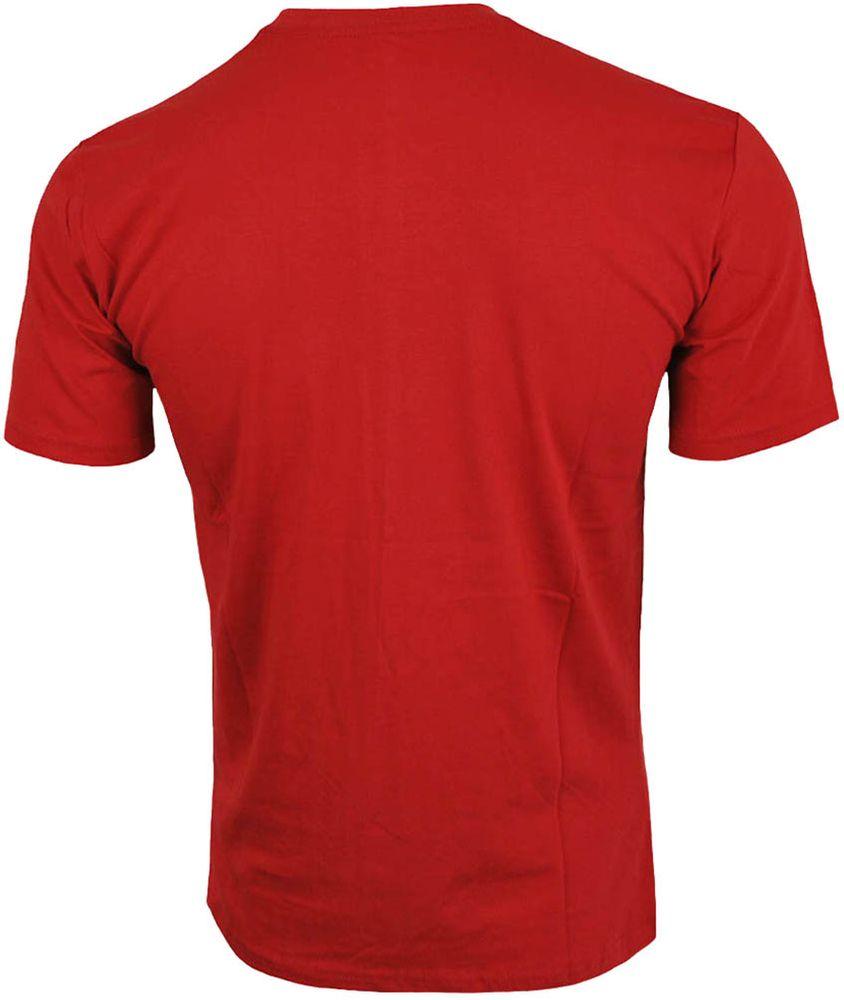 Nike Hangtag Swoosh Tee Herren Slim Fit Fitness Baumwolle Shirt T-Shirt Rot/Schwarz – Bild 3