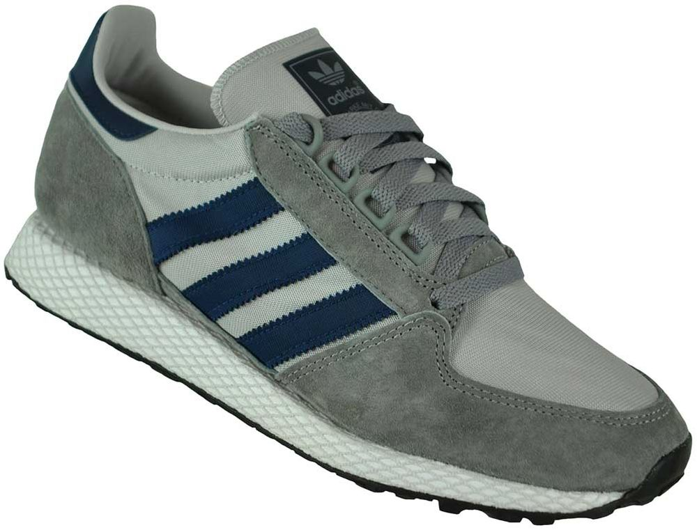 sale retailer 5bc6a 8fa9f Adidas Forest Grove Trainer Originals Trefoil Mens Sneaker Sports Shoes  GrayNavy