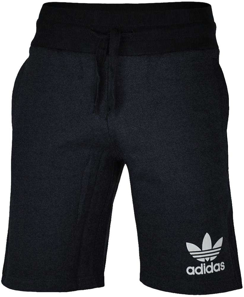 Adidas Sport ESS Short Herren Originals Trefoil Fleece Sweat Shorts Fitness Schwarz