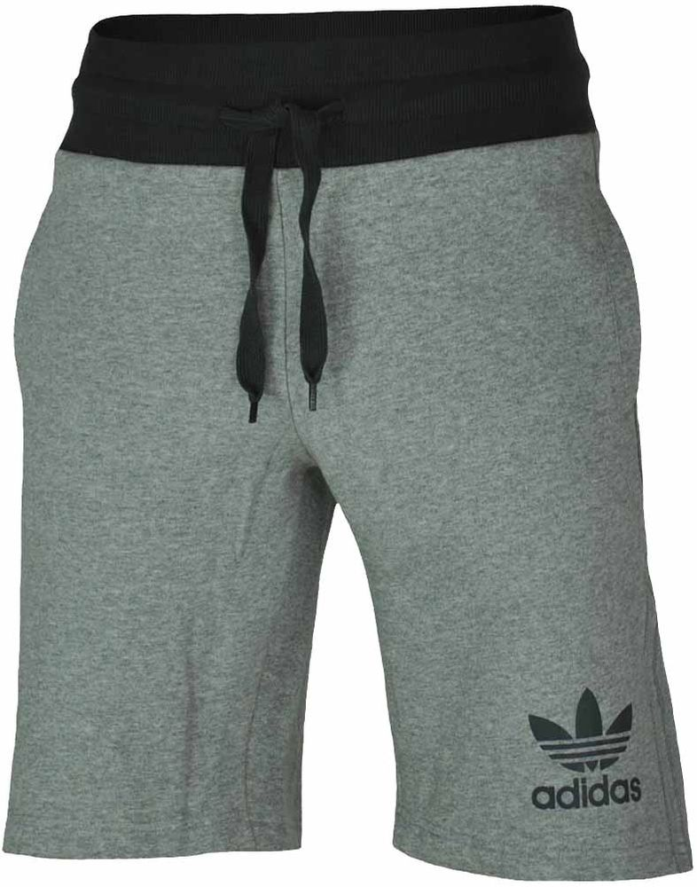Adidas Sport ESS Short Herren Originals Trefoil Fleece Sweat Shorts Fitness Grau – Bild 1