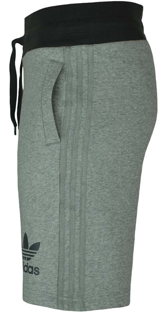 Adidas Sport ESS Short Herren Originals Trefoil Fleece Sweat Shorts Fitness Grau – Bild 4