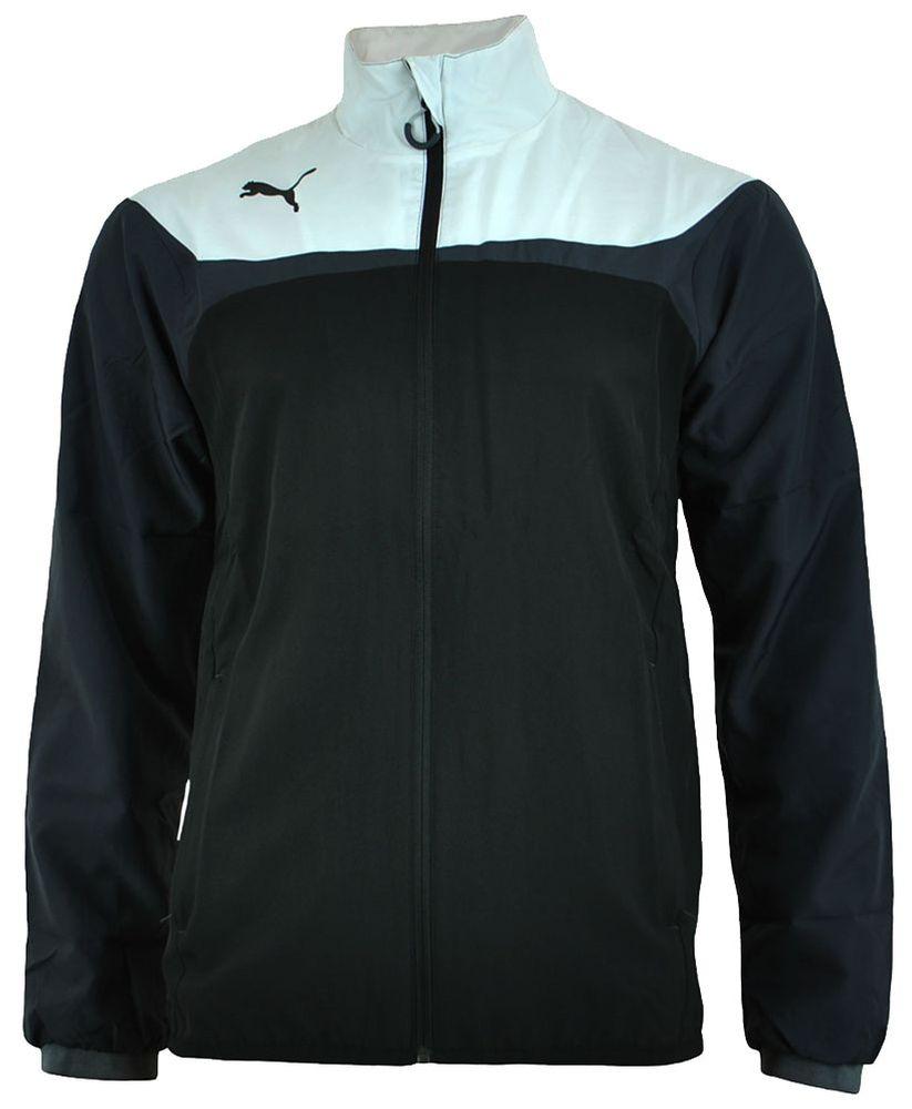 Puma Esito 3 Leisure Track Jacket Herren Jacke Freizeitjacke Windjacke Schwarz/Weiß