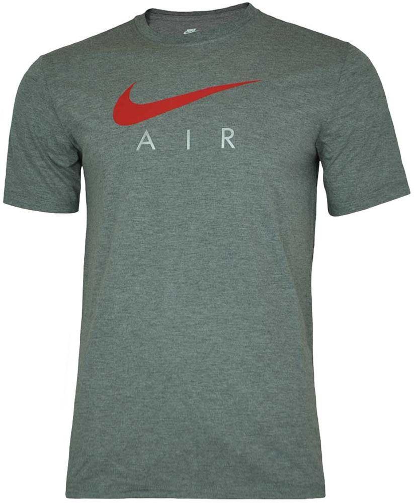 Nike AIR NSW Hybrid Tee Herren Sport Regular Fit Fitness Shirt T-Shirt Grau