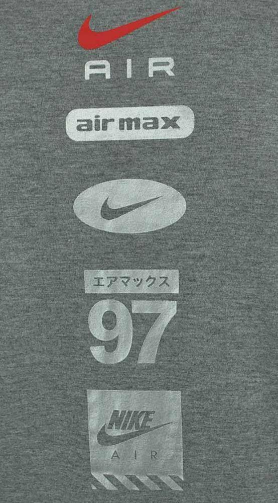 Nike AIR NSW Hybrid Tee Herren Sport Regular Fit Fitness Shirt T-Shirt Grau – Bild 4