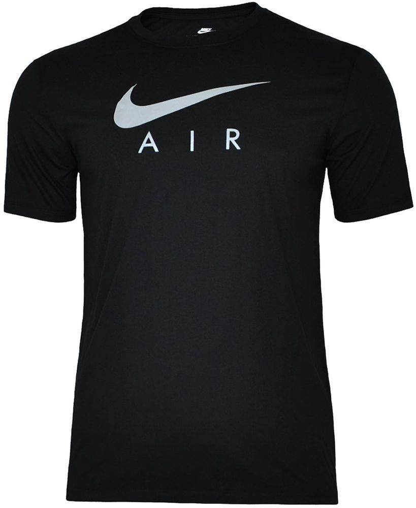 Nike AIR NSW Hybrid Tee Herren Sport Fitness Shirt T-Shirt Schwarz/Silber 001