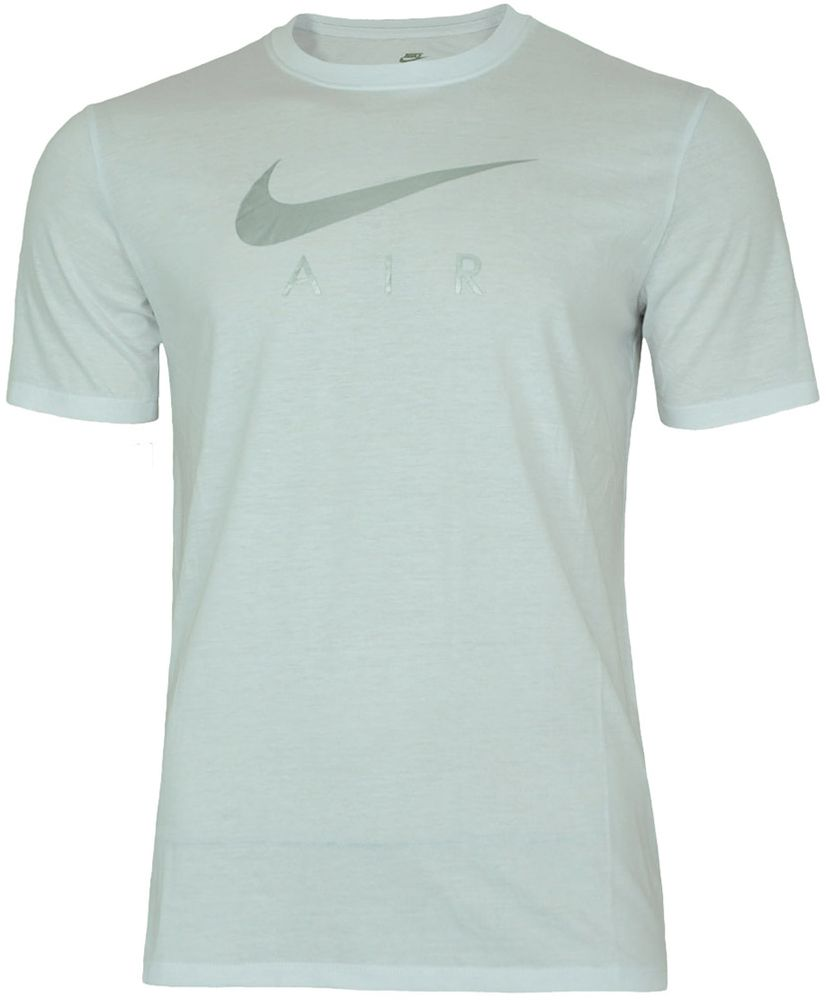 Nike AIR NSW Hybrid Tee Herren Sport Fitness Shirt T-Shirt Weiß/Silber