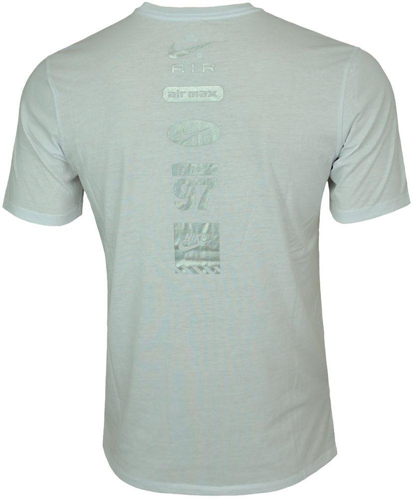 Nike AIR NSW Hybrid Tee Herren Sport Fitness Shirt T-Shirt Weiß/Silber – Bild 3
