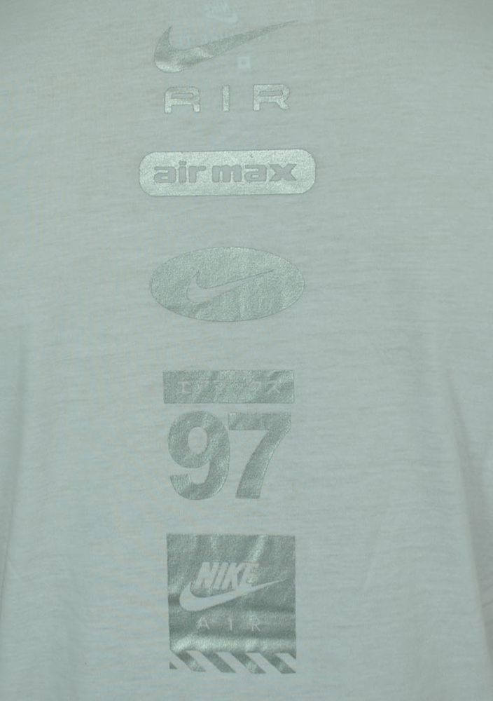 Nike AIR NSW Hybrid Tee Herren Sport Fitness Shirt T-Shirt Weiß/Silber – Bild 4