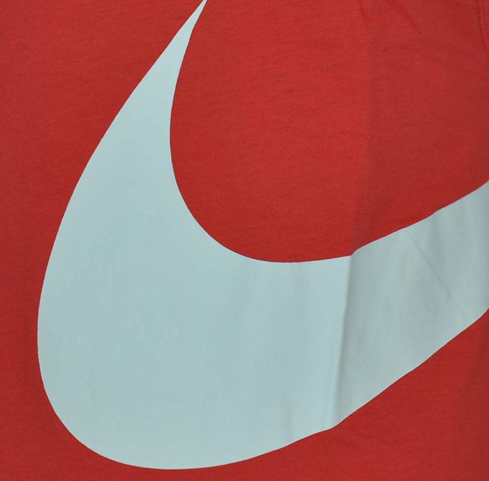 Nike Hybrid Swoosh Logo Vest Shirt Herren Tank Top Muskelshirt Rot/Weiß – Bild 2