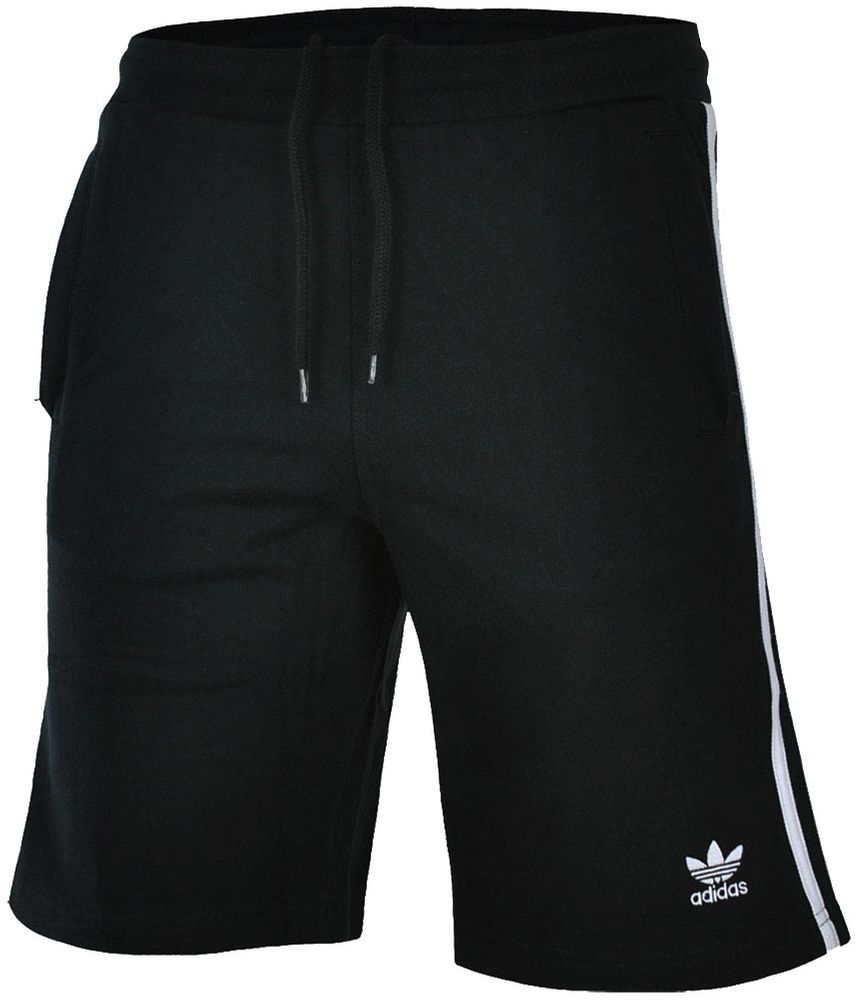 Adidas 3 Stripes Short Herren Originals Trefoil Sport Fitness Shorts Schwarz/Weiß – Bild 1