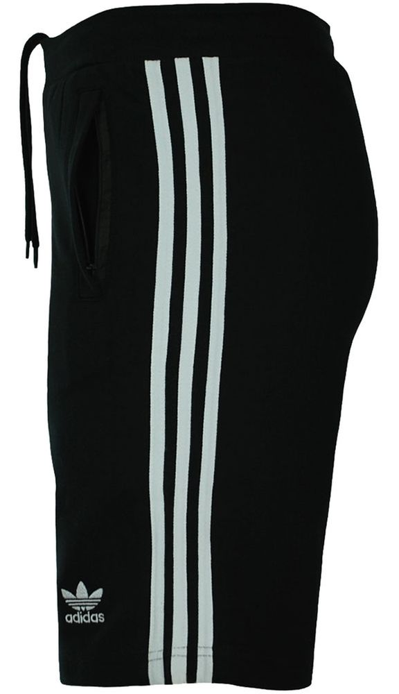Adidas 3 Stripes Short Herren Originals Trefoil Sport Fitness Shorts Schwarz/Weiß – Bild 3
