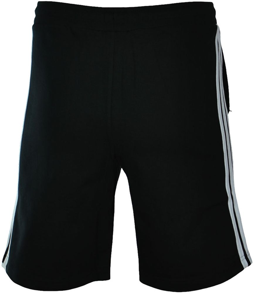 Adidas 3 Stripes Short Herren Originals Trefoil Sport Fitness Shorts Schwarz/Weiß – Bild 5