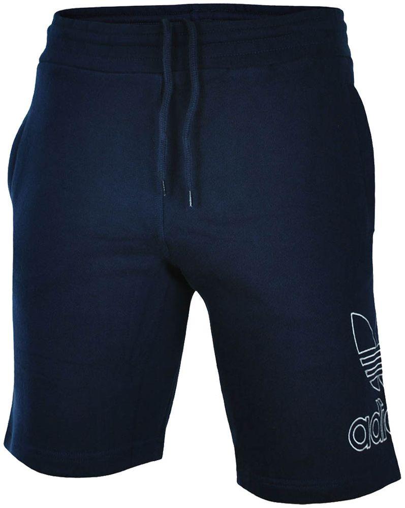 Adidas Outline Short Herren Originals Trefoil Sport Fitness Shorts Navy/Weiß