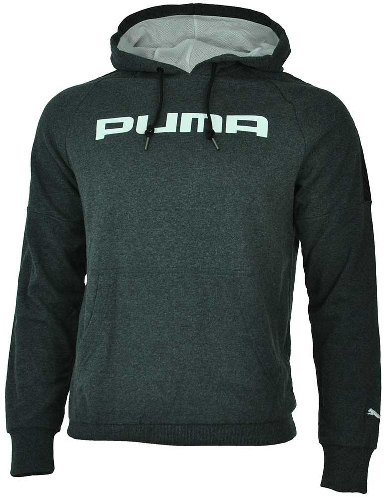 Puma F. Athletics Hooded Sweat Mens Herren Kapuzen Sweatshirt Grau