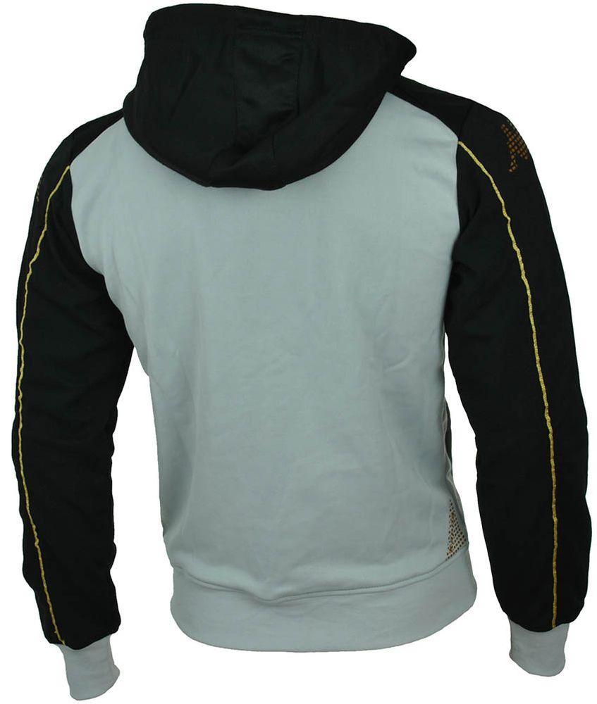 Kappa Melb Hooded Jacket Mens Herren Slim Fit Sweatjacke Grau – Bild 2