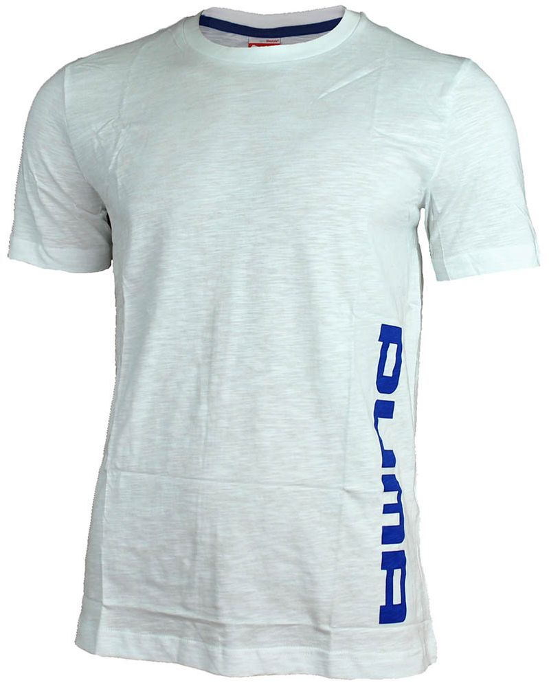 Puma F. Athletics Tee Mens Herren Sport Training Freizeit T-Shirt Weiß – Bild 1