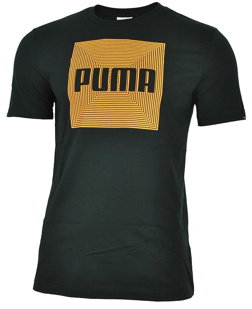 Puma M Shape Logo Tee Herren Sport Freizeit Training T-Shirt Schwarz – Bild 1