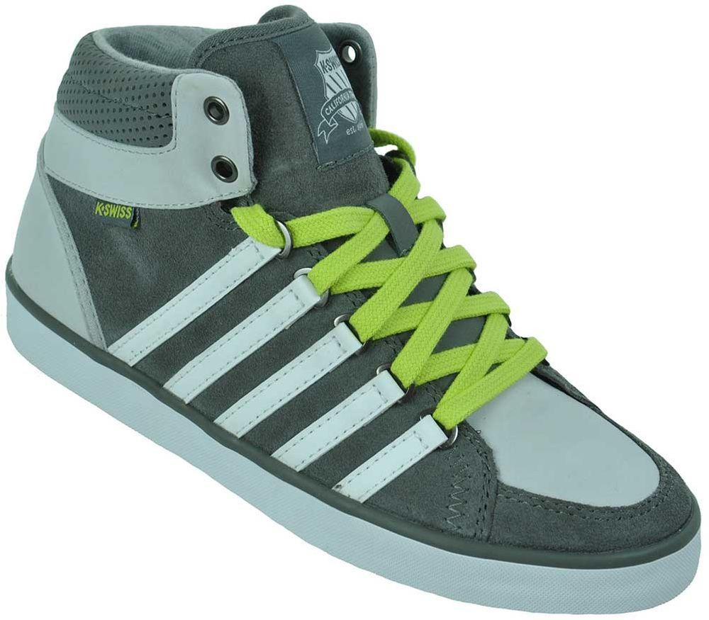 K-Swiss Gowmet II MID VNZ Leather Junior Kinder Leder Freizeit Sneaker Grau