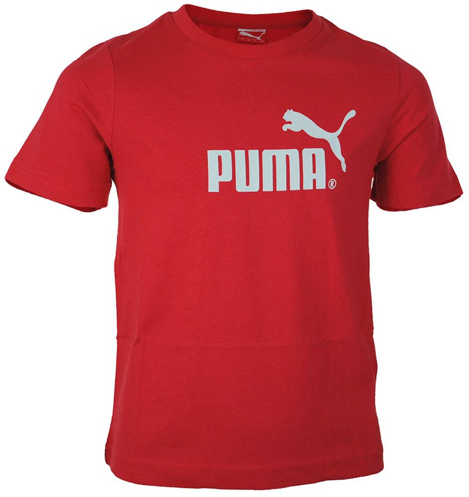 Puma Large Logo tee Junior Kinder Sport Freizeit T-Shirt Rot