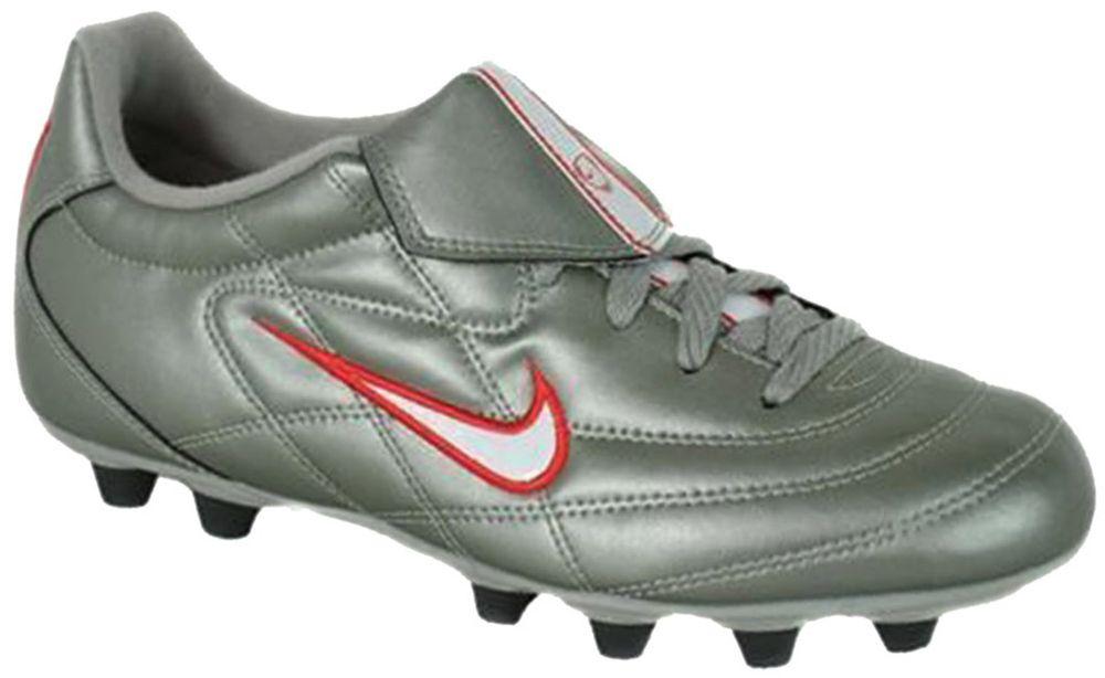 Nike Tiempo 750 FG - Herren Nocken Fußball-Schuhe - Grau 39