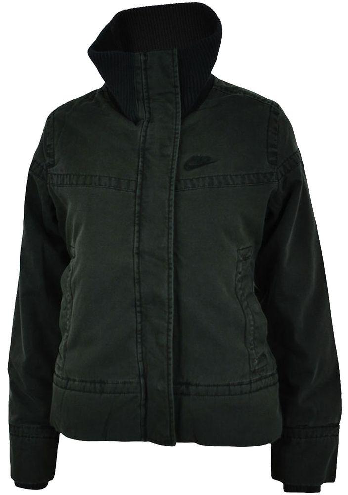 Nike Jacket Womens Damen  Freizeit Winterjacke Wattiert Schwarz Gr. XS – Bild 1