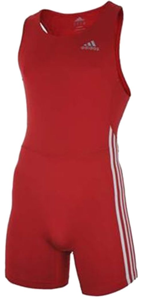 Adidas 3 Stripe Speeds ClimaLite Stretch Running Sprintsuit Rot – Bild 1
