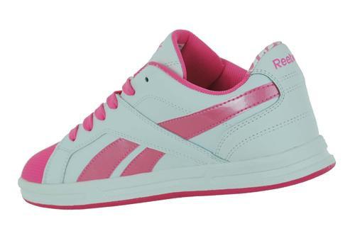 Reebok Ace IT Junior Kinder Tennis Schuhe Leder Sneaker Weiß – Bild 2