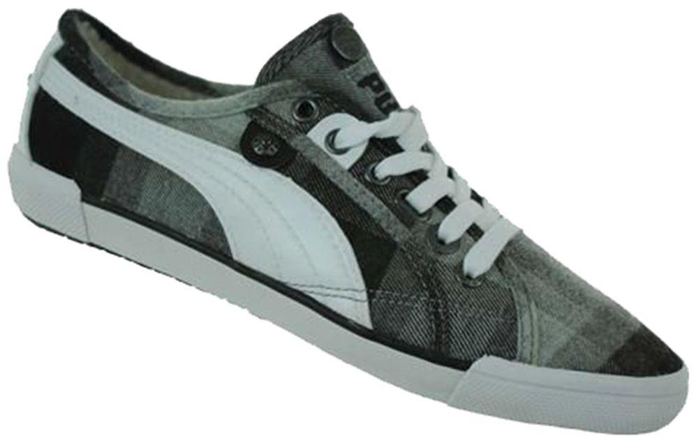 Puma Corsica Plaid Womens Damen Lifestyle Freizeit Sneaker Grau – Bild 1