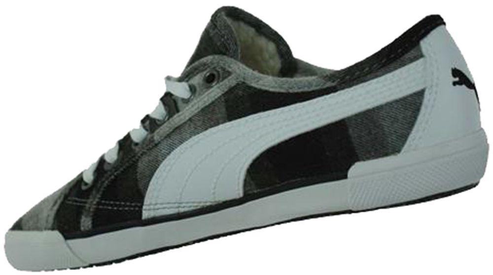 Puma Corsica Plaid Womens Damen Lifestyle Freizeit Sneaker Grau – Bild 2