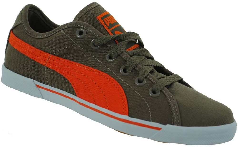 Puma Benecio Canvas Junior Kinder Freizeit Sneaker Khaki – Bild 1