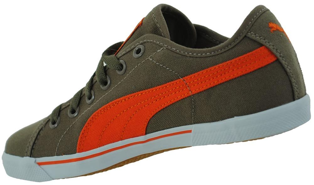 Puma Benecio Canvas Junior Kinder Freizeit Sneaker Khaki – Bild 2