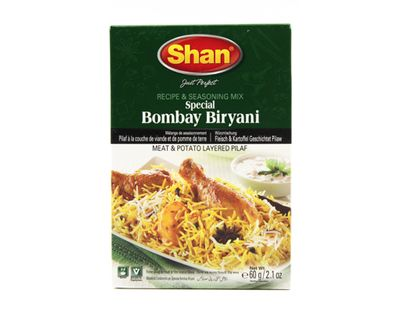 Shan - Bombay Biryani Spice Mix for Rice with Meat & Potatoes - 60g