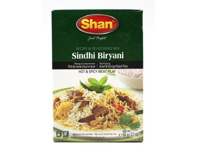 Shan - Sindhi Biryani Spice Mix for Rice Dishes with Meat - 60g