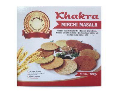 Annam - Khakra Mirchi Masala Cracker - 180g