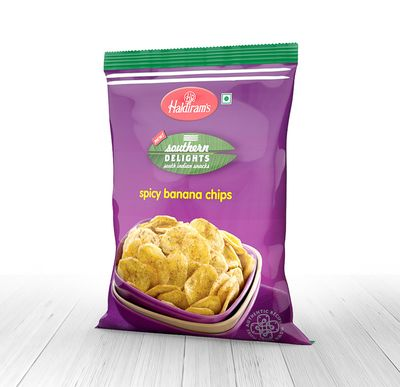 Haldiram's Spicy Banana Chips (Masala) - 200 Grams